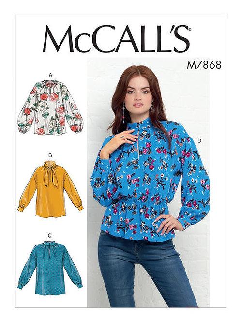 McCall's 7868 lockere Bluse mit Varianten