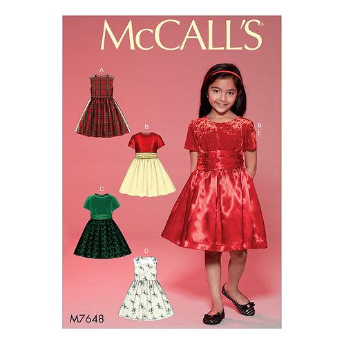 McCall`s M7648 Kleidchen für festl.Anlässe