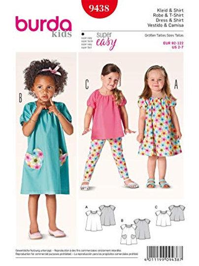 Burda 9438 sommerliches Kleid & Shirt