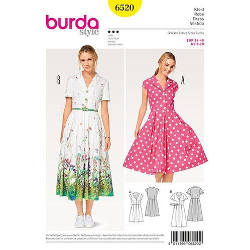 Burda 6520 Sommerkleid im Retro - Stil