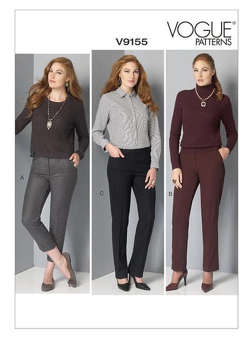 Vogue V9155 gerade Damenhose