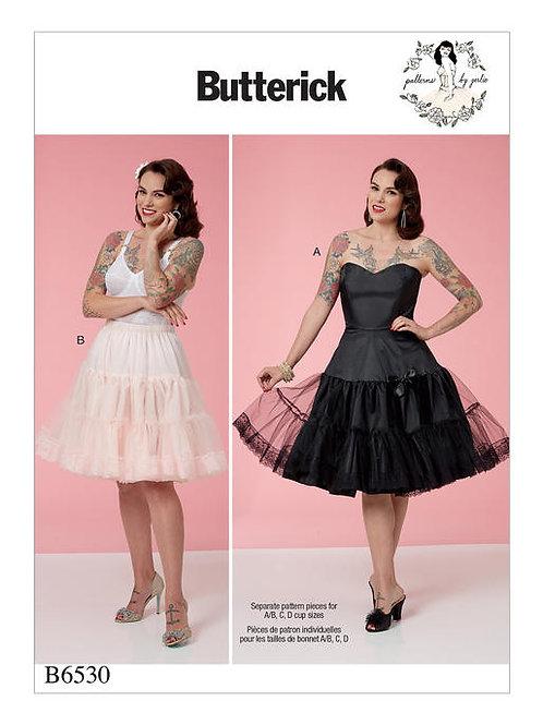 Butterick B6530 Petticoat & Unterkleid by Gertie