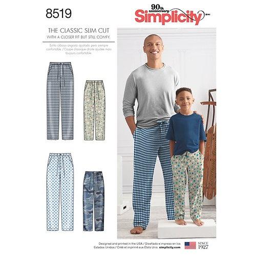 Simplicity 8519 Pyjama- oder Lounge-Hose
