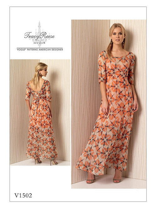 Vogue V1502 Maxikleid Boho by Tracy Reese