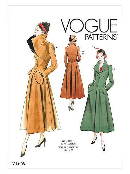 Vogue V1669 taillierter Mantel von ca. 1949