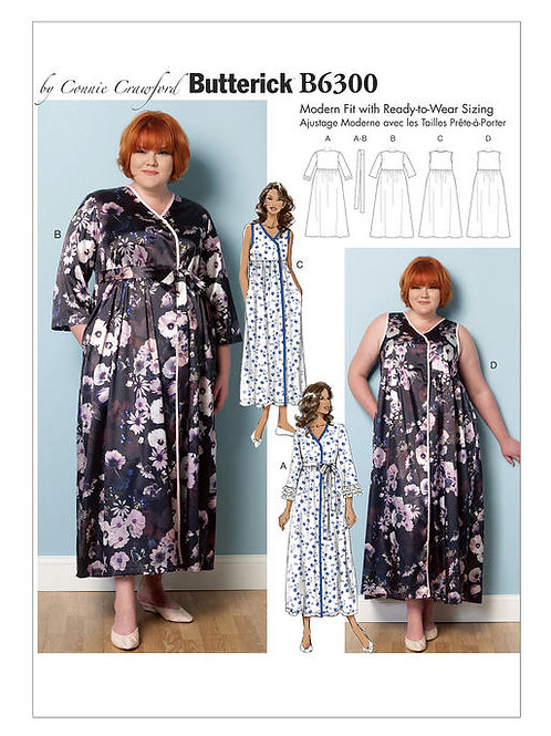 Butterick B6300 Morgenmantel by Connie Crawford