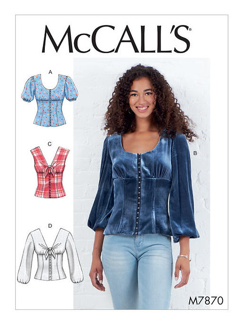 McCall's 7870 taillierte Bluse