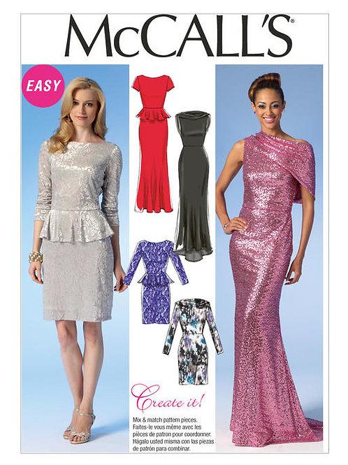 McCall's 7047 Abendkleid mit Varianten