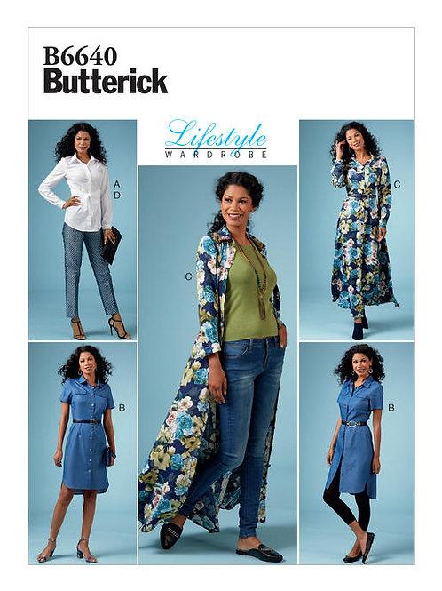 Butterick B6640 Kleid, Top, Hose