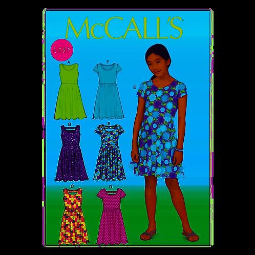 McCall`s M7079 Mädchen-Kleid