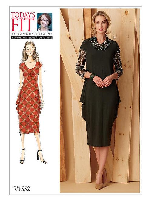 Vogue V1552 drapiertes Kleid