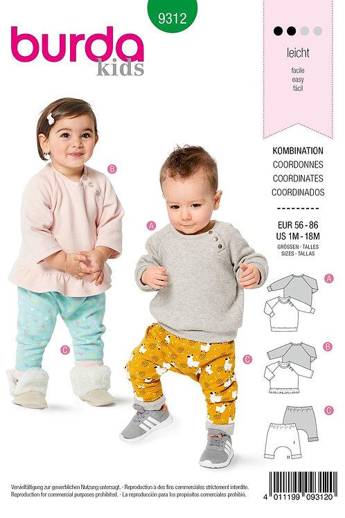 Burda 9312 praktisches Shirt & Hose