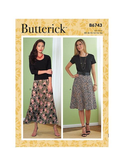 Butterick B6743 ausgestellter Rock