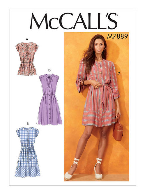 McCall's 7889 lockeres Kleid & Top