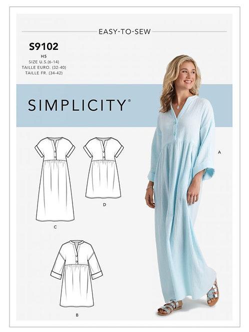 Simplicity 9102 Hängerkleid