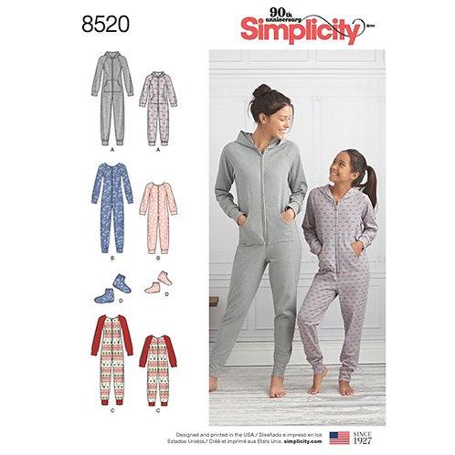Simplicity 8520 Overalls und Booties