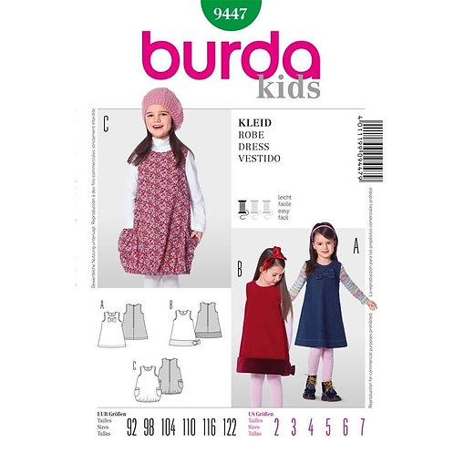 Burda 9447 ärmelloses Kleid