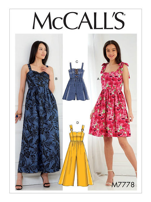 McCall's 7778 Kleid & Overall
