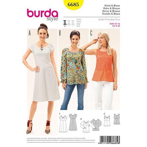 Burda 6685 Kleid & Bluse