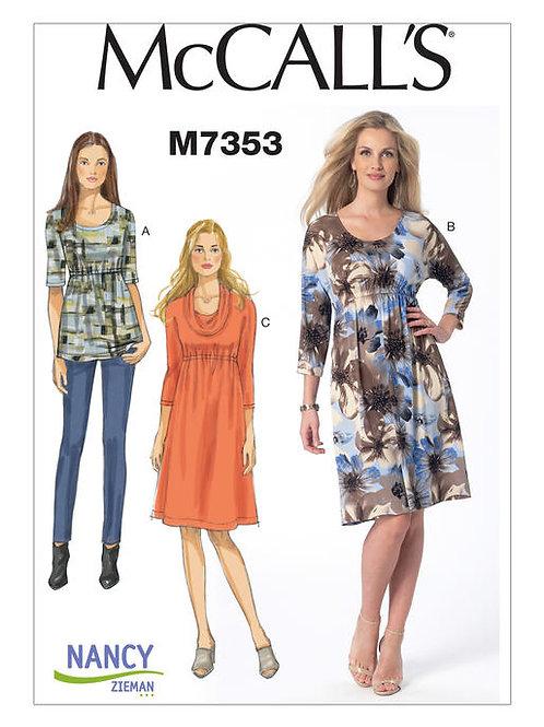 McCall's 7353 Jerseykleid & Oberteil