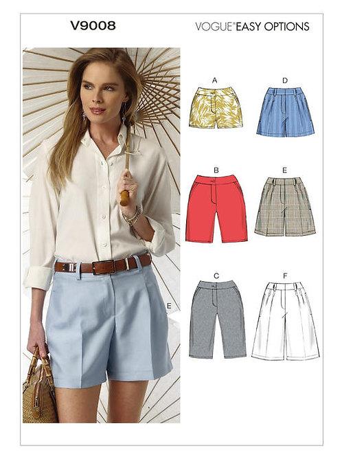 Vogue V9008 Shorts & Bermudas