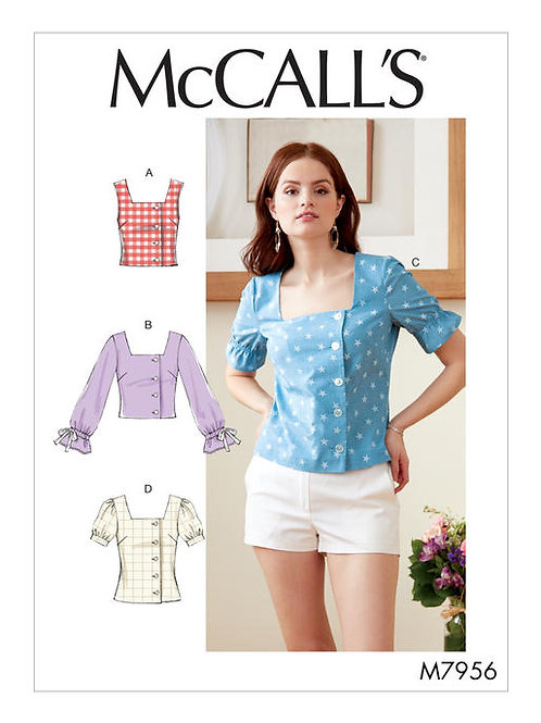 McCall's 7965 taillierte Bluse