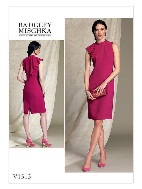Vogue V1513 ärmelloses Kleid by Badgley Mischka