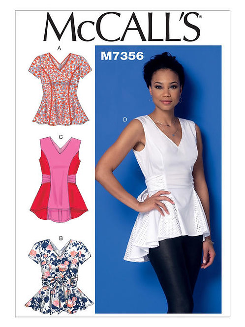 McCall's 7356 taillierte Tops