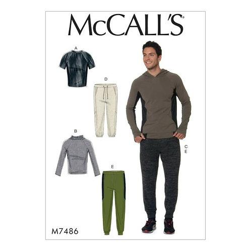 McCall`s M7486 Sweater und Hose für Herren
