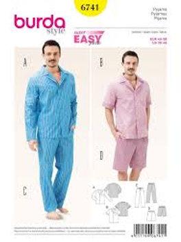 Burda 6741 Herren - Loungewear, Pyjama