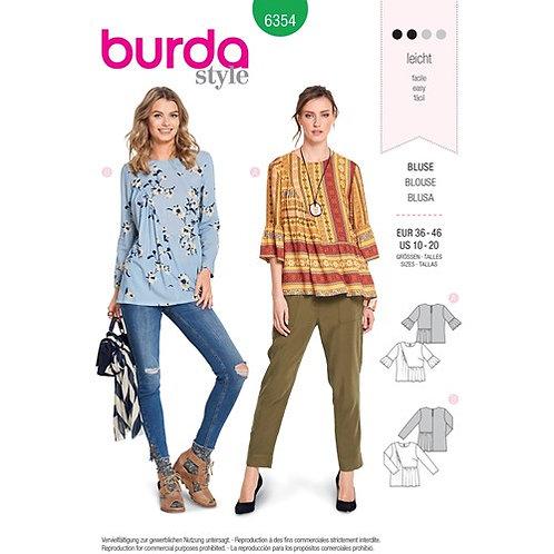 Burda 6354 Designer - Bluse