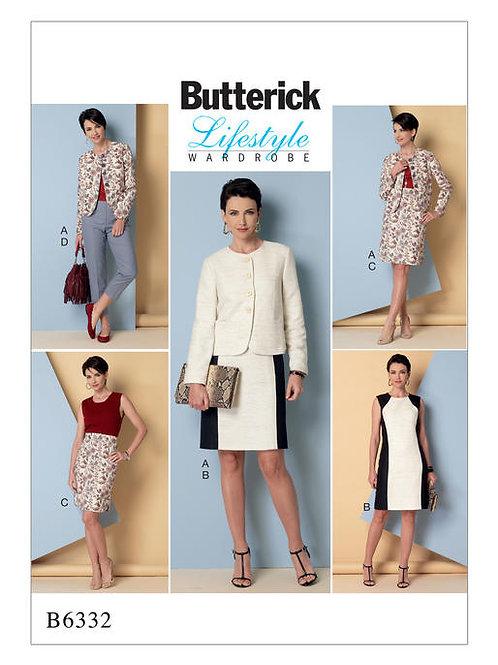 Butterick B6332 Kleid, Jacke, Rock & Hose