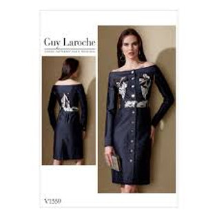 Vogue V1559 enges Designerkleid  by Guy Laroche