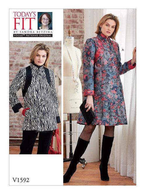 Vogue V1592 Mantelkleid by Sadra Betzina