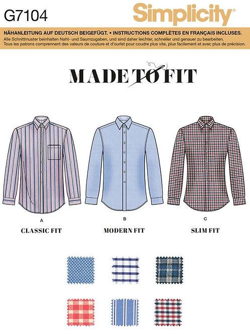Simplicity 7104 Herrenhemd