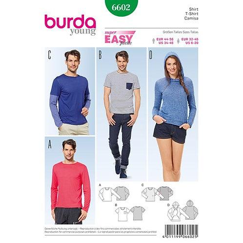 Burda 6602 Kapuzenshirt & T-Shirt