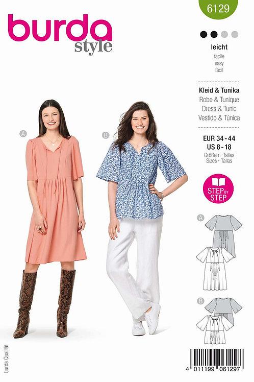 Burda 6129 Kleid oder Tunika