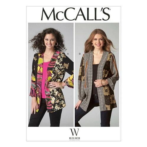 McCall`s M7132 Jacke in Flickenoptik