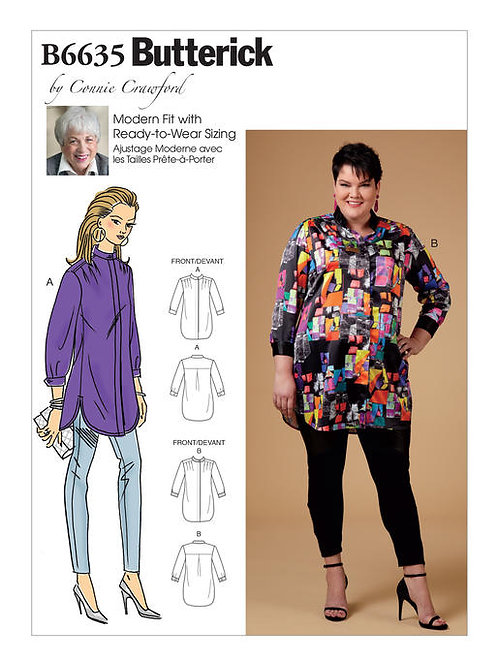 Butterick B6635 Hemdbluse by Conny Crawford