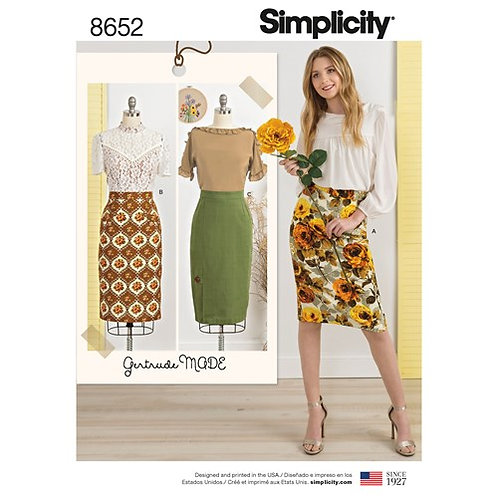 Simplicity 8652 Bleistiftrock
