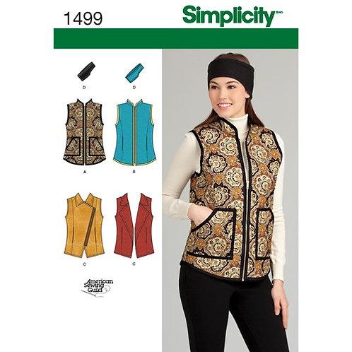 Simplicity 1499 Weste & Stirnband