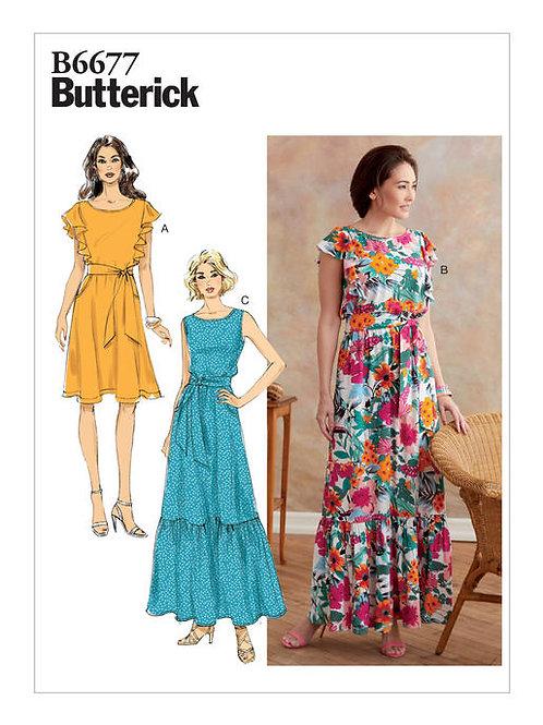 Butterick B6677 ärmelloses Kleid mit elastischer Taille