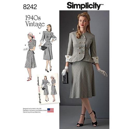 Simplicity 8242 Vintage - zweiteiliges Kleid