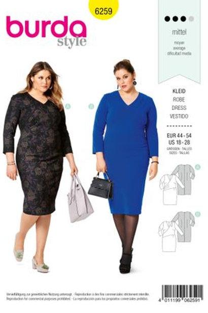 Burda 6259 Jersey - Kleid mit Wickeloptik