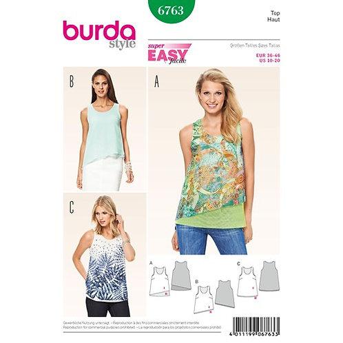 Burda 6763 Sommer Tops