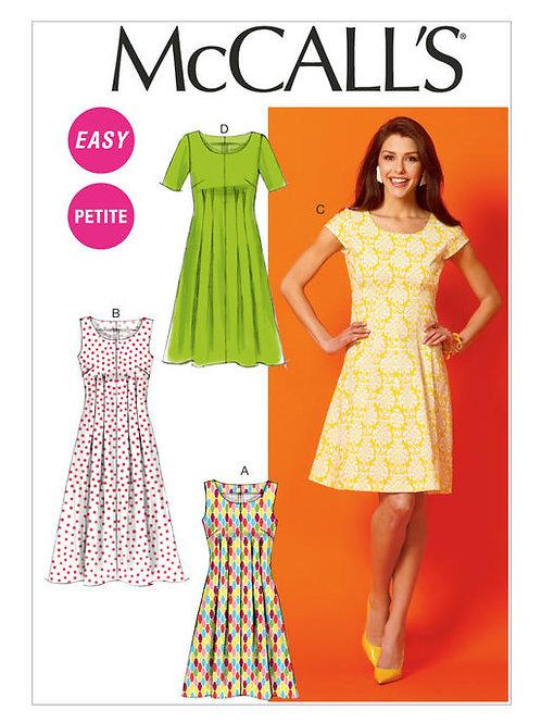McCall's 6958 lockeres Kleid mit Biesen