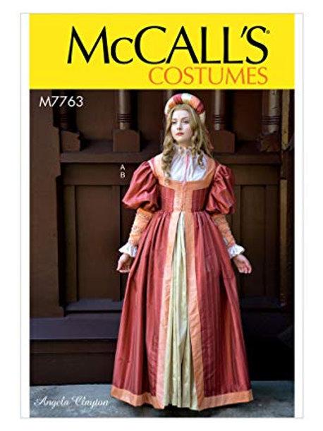 McCall`s M7763 Historisches Kleid