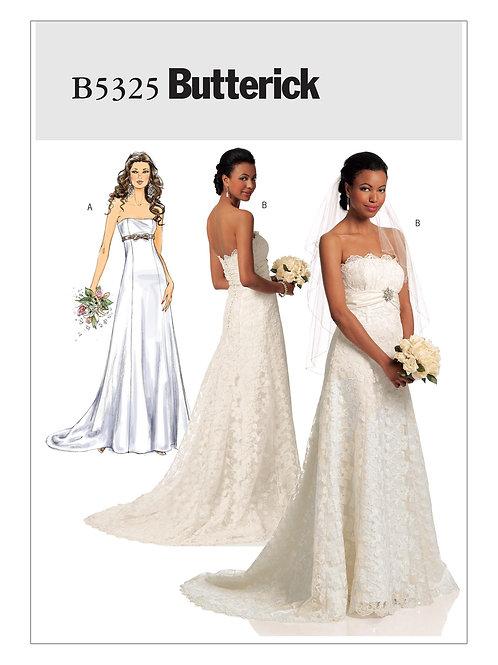 Butterick B5325 Brautkleid mit Schleppe