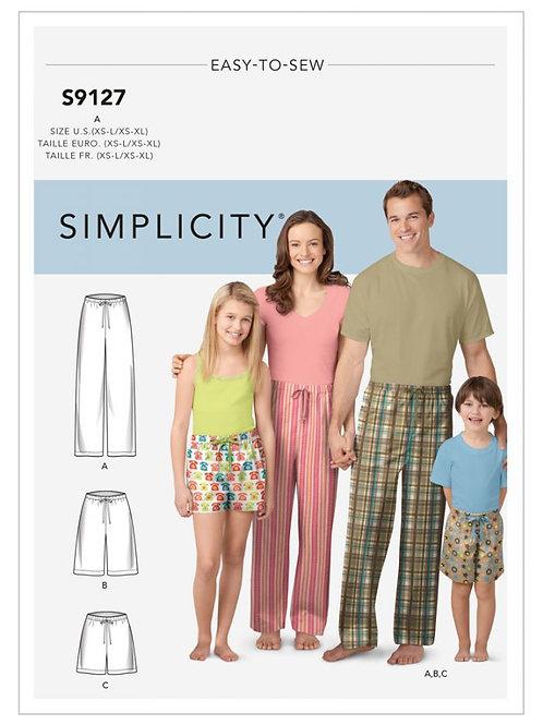 Simplicity 9217 Freizeithose für die Familie