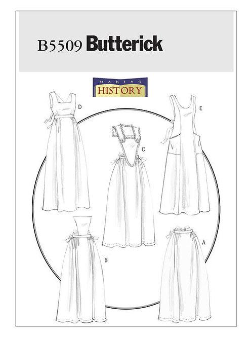 Butterick B5509 historische Schürzen